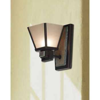 Kenroy Home Clean Slate Wall Sconce in Oil Rubbed Bronze