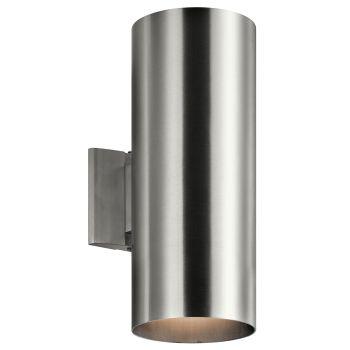 Kichler Signature 2-Light Medium Outdoor Wall in Brushed Aluminum