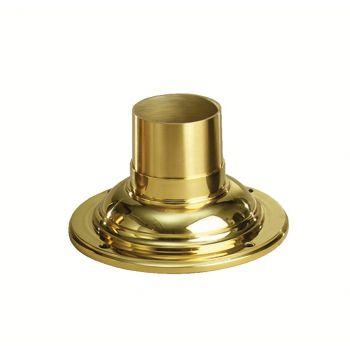 "Kichler 7"" Pedestal Adaptor in Polished Brass"
