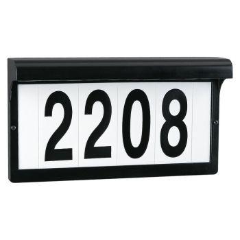 """Sea Gull Lighting Address Light 12.38"""" Address Light in Black"""