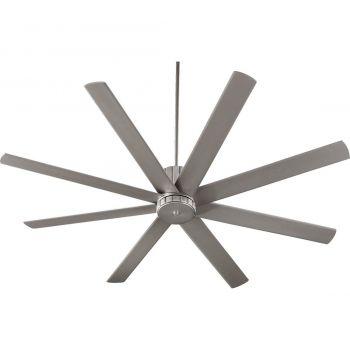"""Quorum Proxima 72"""" 8-Blade Indoor Ceiling Fan in Satin Nickel"""
