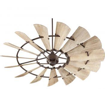 """Quorum International Windmill 72"""" Indoor Ceiling Fan in Oiled Bronze"""