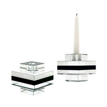 ELK Home Candleholders in Clear, Black