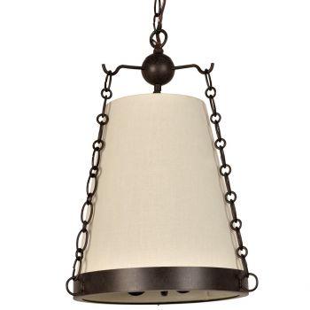 "Crystorama Ellis 3-Light 18"" Mini Chandelier in Charcoal Bronze"