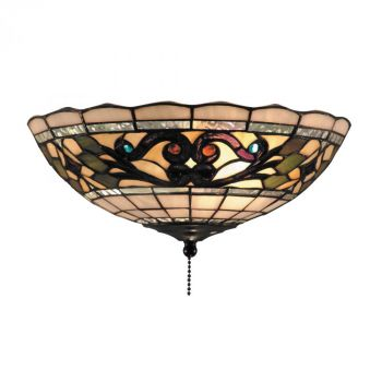 "ELK Tiffany Buckingham 2-Light 12"" Ceiling Light in Vintage Antique"