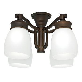 Casablanca 99091 Outdoor Ceiling Fan 4-Light Kit in Maiden Bronze