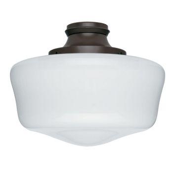 Hunter Outdoor Ceiling Fan Light Kit in Chestnut Brown