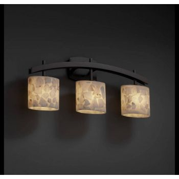 Justice Design Archway 3-Lt Oval-Shade Vanity Bar in Dark Bronze