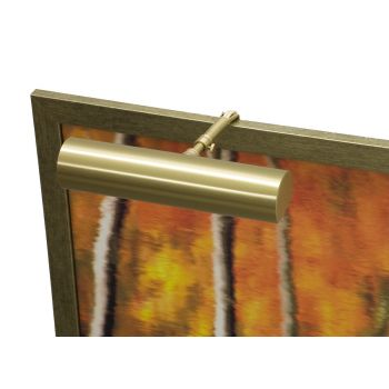 "House of Troy Contemporary 9"" Satin Brass Picture Light"