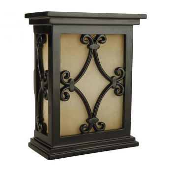 Teiber Hand-Carved Scroll Design Door Chime in Black
