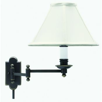 House of Troy Club Oil Rubbed Bronze Swing-arm Wall Lamp