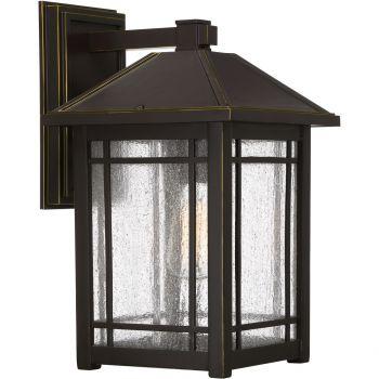 "Quoizel Cedar Point 16.5"" Outdoor Wall Lantern in Palladian Bronze"
