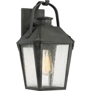 """Quoizel Carriage 15"""" Outdoor Wall Lantern in Mottled Black"""