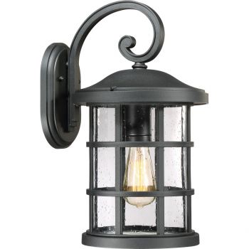 """Quoizel Crusade 11.75"""" Outdoor Wall Lantern in Earth Black"""