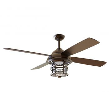 "Craftmade Courtyard 56"" Ceiling Fan w/ Blades in Oiled Bronze"