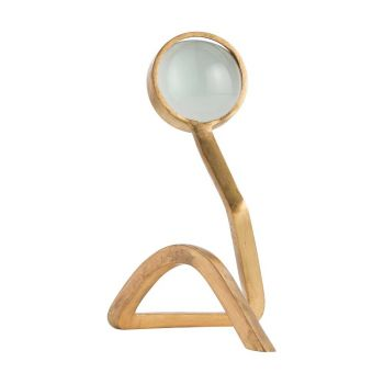 "Arteriors Barry Dixon 12"" Magnifying Object in Gold Leaf"