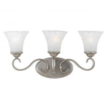 Quoizel Duchess 3-Light Bath Light in Nickel