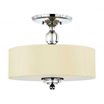 "Quoizel Downtown 17"" 3-Light Semi-Flush Mount in Polished Chrome"