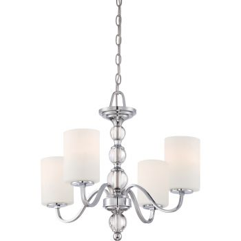 Quoizel Downtown 4-Light Chandelier in Chrome