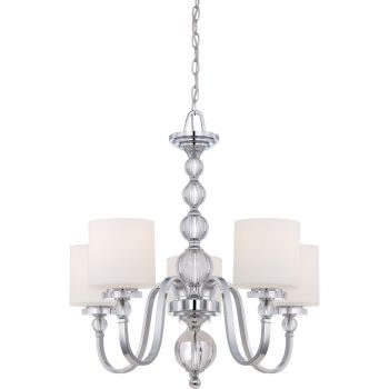 Quoizel Downtown 5-Light Chandelier in Chrome