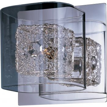 "ET2 Gem 5.25"" Clear Glass Bath Vanity in Polished Chrome"