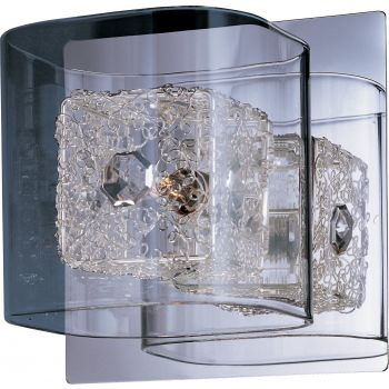 "ET2 Gem 5.25"" Clear Bath Vanity in Polished Chrome"