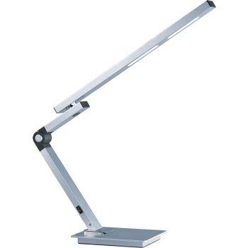 """ET2 Eco-Task 23"""" LED Swing Arm Table Lamp in Satin Aluminum"""
