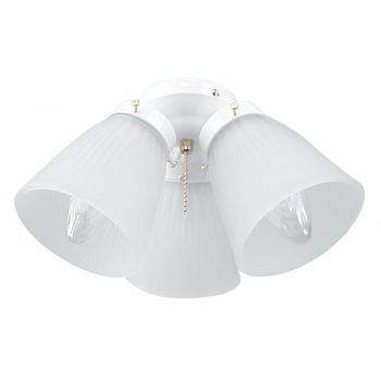"Craftmade Accessory 11"" 3-Light Fan Light Kit in White"
