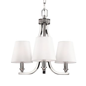 Feiss Pave 3-Light Chandelier in Polished Nickel