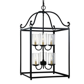 Feiss Declaration 6-Light Chandelier in Antique Forged Iron