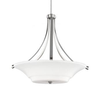 Feiss Summerdale 3-Light Uplight Pendant in Satin Nickel