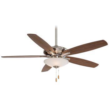 """Minka-Aire Mojo 52"""" Ceiling Fan in Brushed Nickel"""
