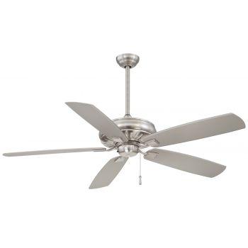 Minka-Aire Sunseeker Ceiling Fan in Brushed Nickel Wet
