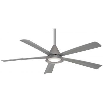 "Minka-Aire Cone 54"" LED Ceiling Fan in Silver"
