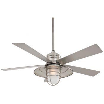 Minka-Aire Indoor/Outdoor Rainman Ceiling Fan in Brushed Nickel