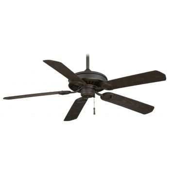 "Minka-Aire Sundowner 54"" Ceiling Fan in Black Iron W/ Aged Iron Accents"