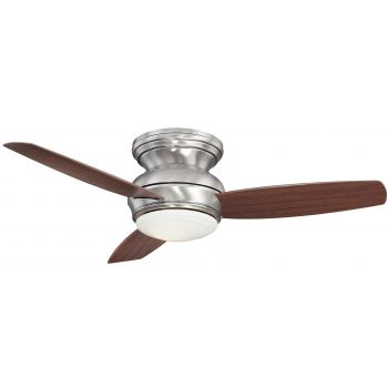 """Minka-Aire Traditional Concept 44"""" LED Flush Mount Ceiling Fan in Pewter"""