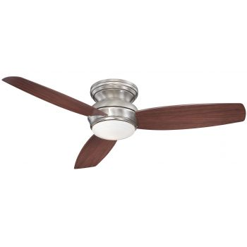 """Minka-Aire Traditional Concept 52"""" LED Flush Mount Ceiling Fan in Pewter"""