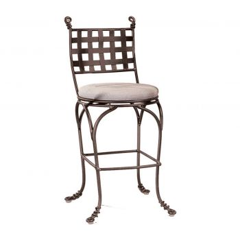 Kalco Vine Swivel Bar Stool w/out Arms in Bark Finish