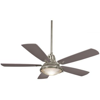 "Minka-Aire Groton 56"" Indoor/Outdoor Ceiling Fan in Brushed Nickel"