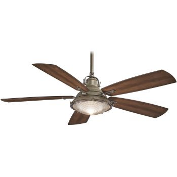 "Minka-Aire Groton 56"" Ceiling Fan in Weathered Aluminum"