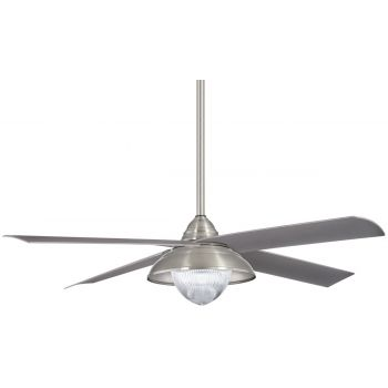 """Minka-Aire Shade 56"""" Ceiling Fan in Brushed Nickel Wet"""