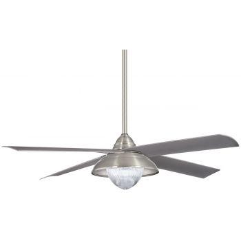 "Minka-Aire Shade 56"" Indoor/Outdoor Ceiling Fan in Brushed Nickel"