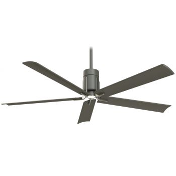 "Minka-Aire Clean 60"" LED Celing Fan in Grey Iron/Brushed Nickel"