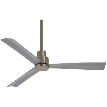 "Minka-Aire Simple 52""Ceiling Fan Outdoor in Brushed Nickel Wet"