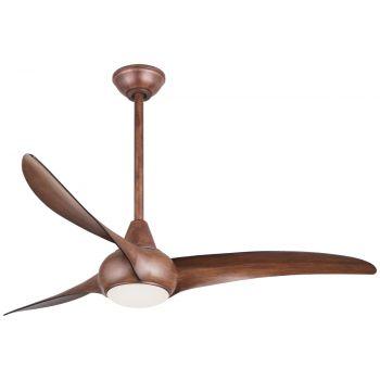 """Minka-Aire Light Wave 52"""" Ceiling Fan in Distressed Koa"""