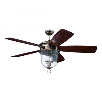 Craftmade Fredericksburg 3-Light Ceiling Fan w/ Blades in Tarnished Silver
