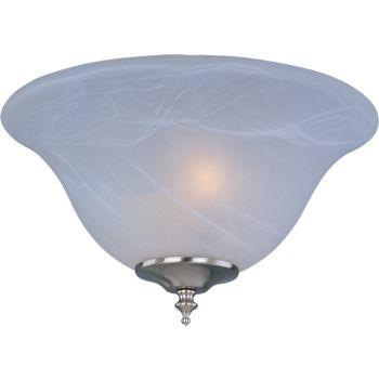 "Maxim Lighting Basic Max 13"" 2-Light Ceiling Fan Light Kit in Satin Nickel"