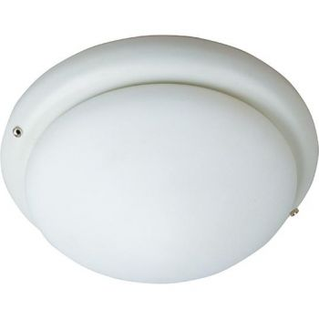 """Maxim Lighting Basic Max 7"""" White Glass Ceiling Fan Light Kit in Bronze"""