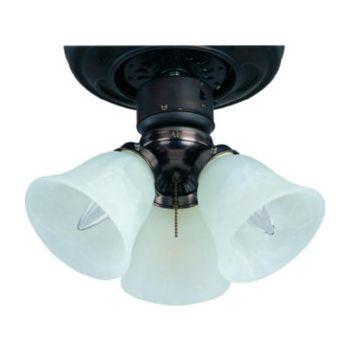 """Maxim Lighting Basic Max 12"""" 3-Light Ceiling Fan Light Kit in Matte White"""